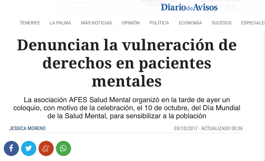Denuncian la vulneración de derechos en pacientes mentales.