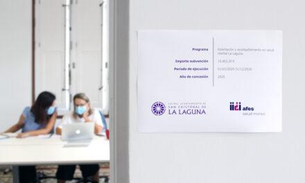 Un año más, el Ayuntamiento de La Laguna colabora para ofrecer el servicio de orientación y acompañamiento en salud mental