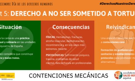 AFES Salud Mental denuncia las violaciones de derechos humanos que se producen en los sistemas de atención a la salud mental